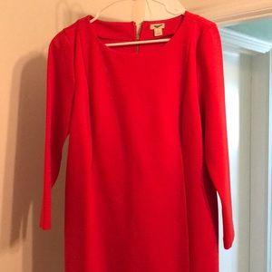 J crew Red Cocktail Dress
